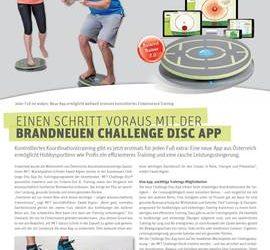 Einen Schritt voraus mit der brandneuen Challenge Disc App