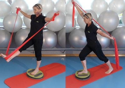 Training mit MFT Fit Disc und Theraband