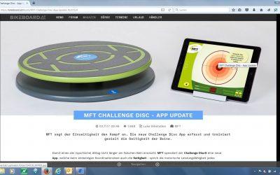 MFT Challenge Disc – App Update