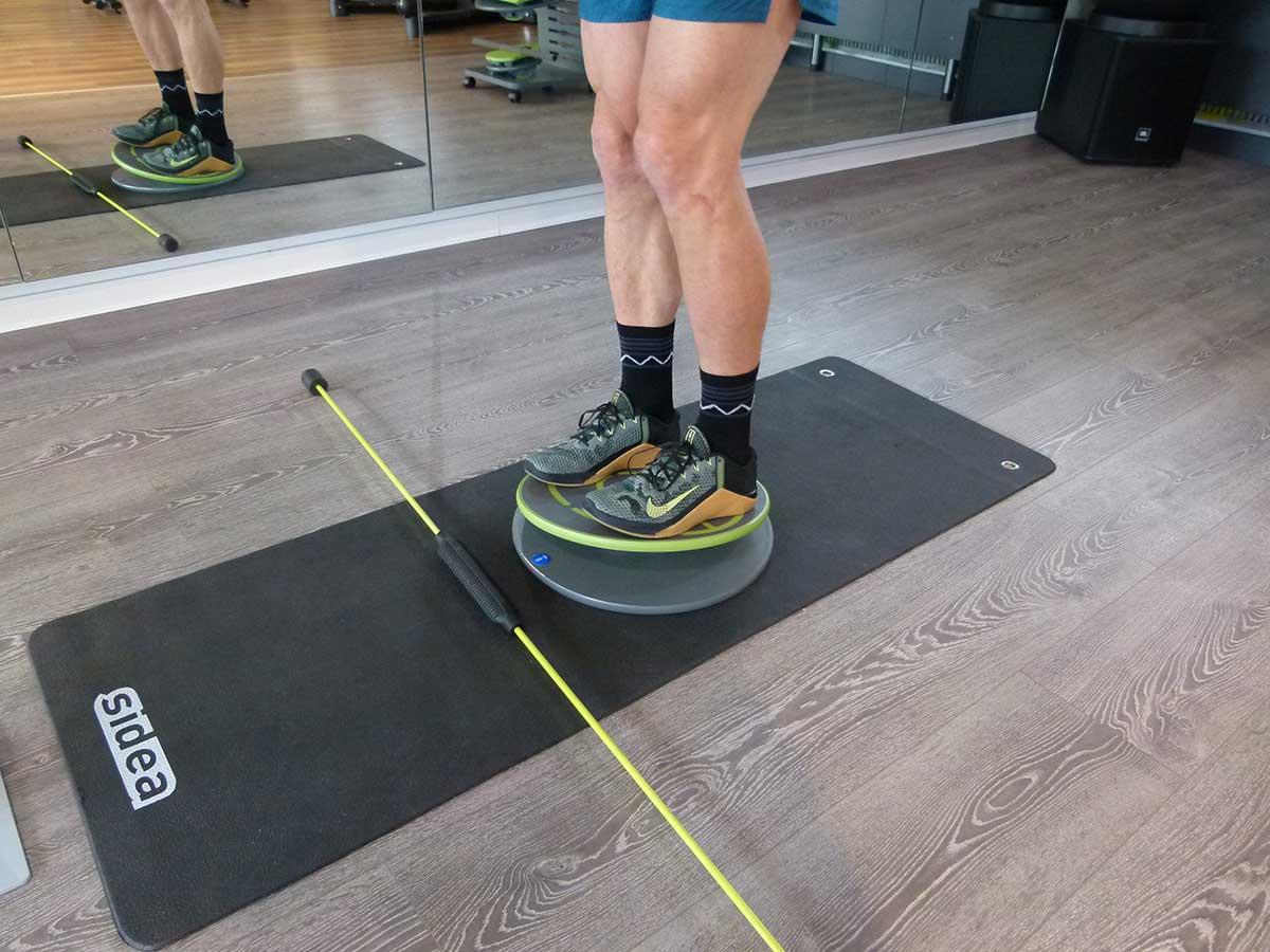 MFT Übungen 521-523 Stabilisieren beidbeinig mit Flexi-Bar Swing