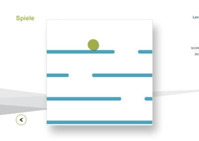 Cross Balance-Spiel in der MFT Bodyteamwork App